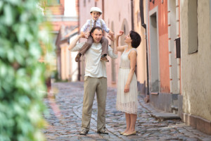 http://www.dreamstime.com/stock-photo-happy-young-family-city-street-image27412460
