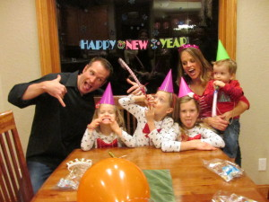 "Sonya and her sweet family wishing you a ""Happy New Year!"""