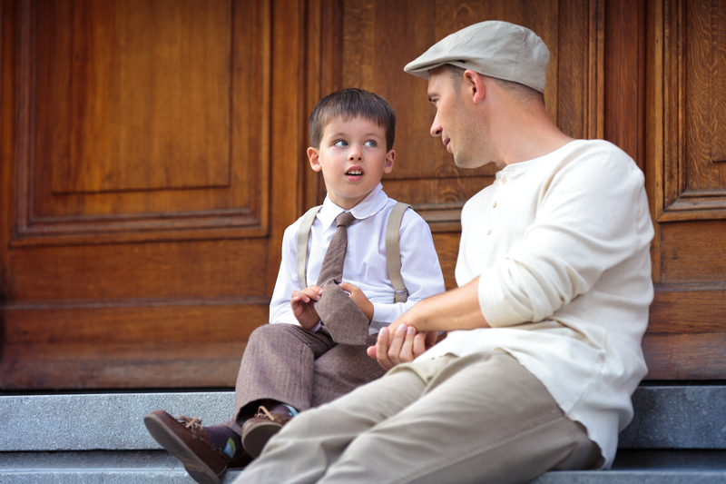 http://www.dreamstime.com/stock-photography-young-father-son-outdoors-city-image-has-attached-release-image31595272